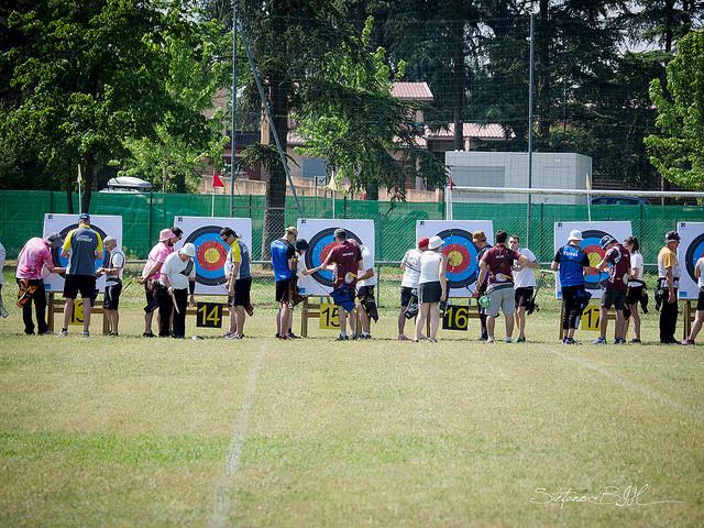 Concours de tir à l'arc en extérieur - région Lyonnaise